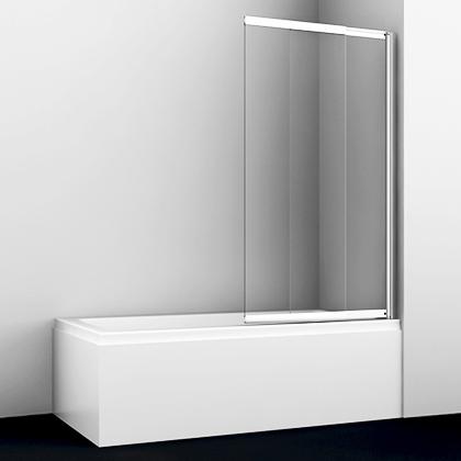 Шторка на ванну Wasserkraft Main 41S02-80 стекло прозрачное, профиль хром купить онлайн с доставкой в интернет-магазине SantPrice.ru