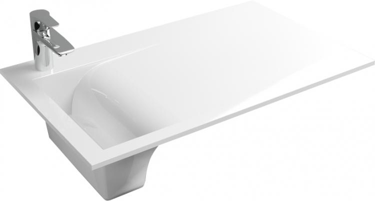 Раковина Цвет и Стиль Воля 80 L цвет белый, прямоугольная купить онлайн с доставкой в интернет-магазине SantPrice.ru