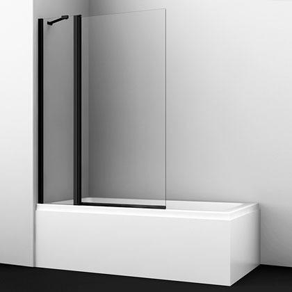Шторка на ванну Wasserkraft Berkel 48P02-110B распашная, стекло прозрачное купить онлайн с доставкой в интернет-магазине SantPrice.ru