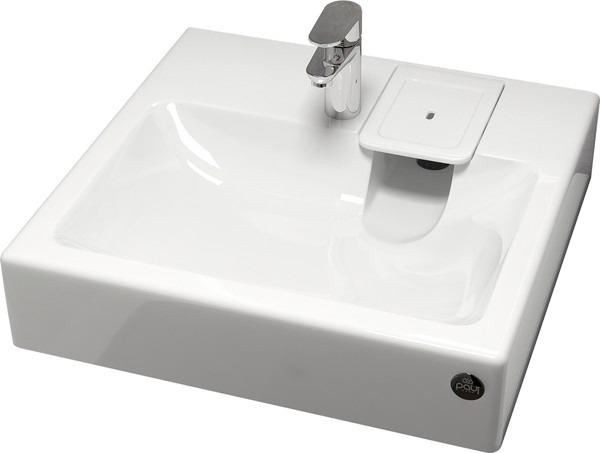 Раковина Paulmark Berg PM710431 цвет белый, прямоугольная купить онлайн с доставкой в интернет-магазине SantPrice.ru