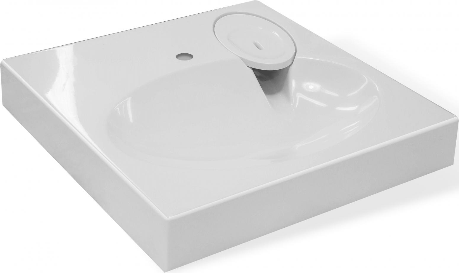 Раковина Эстет Lea 60 прямоугольная, цвет белый ФР-00001624 купить онлайн с доставкой в интернет-магазине SantPrice.ru