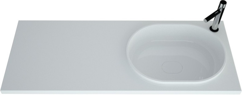 Раковина Andrea Bruks 4680028070597 R прямоугольная, цвет белый купить онлайн с доставкой в интернет-магазине SantPrice.ru