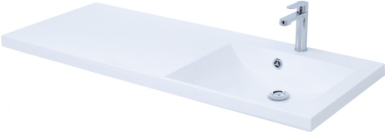 Раковина Цвет и Стиль Нота 120 New R прямоугольная, цвет белый 239568 купить онлайн с доставкой в интернет-магазине SantPrice.ru
