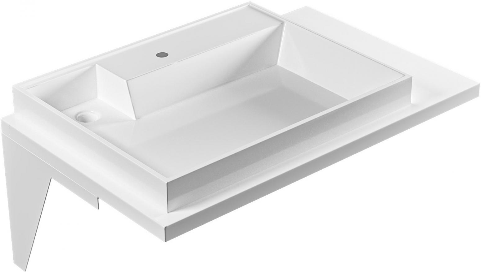 Раковина СанТа Юпитер 80 L прямоугольная, цвет белый купить онлайн с доставкой в интернет-магазине SantPrice.ru