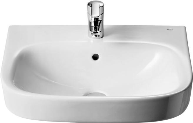 Раковина Roca Debba 50x42 цвет белый, полукруглая, с переливом 32799600Y купить онлайн с доставкой в интернет-магазине SantPrice.ru