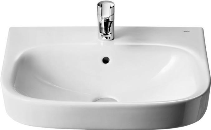Раковина Roca Debba 60x48 цвет белый, полукруглая, с переливом 32799400Y купить онлайн с доставкой в интернет-магазине SantPrice.ru