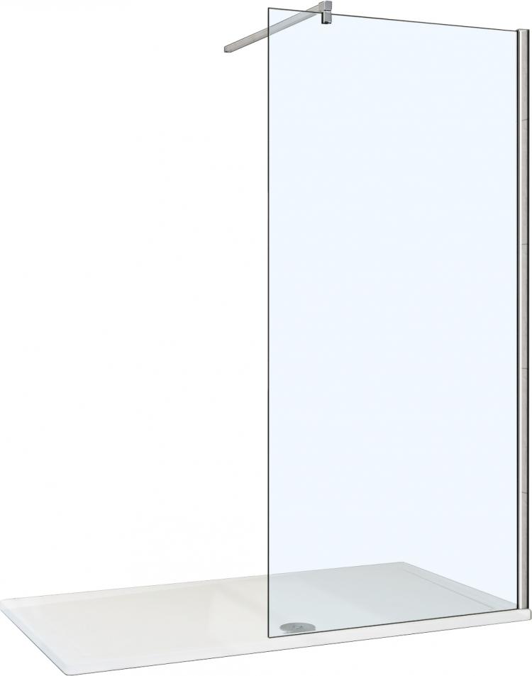 Душевая перегородка Weltwasser WW400 Walk-In 90G-1 стекло прозрачное, профиль хром купить онлайн с доставкой в интернет-магазине SantPrice.ru